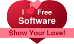 "Banner ""I love Free Software!"""