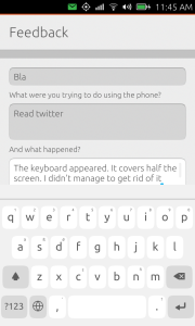 Screenshot Keyboard hides input field