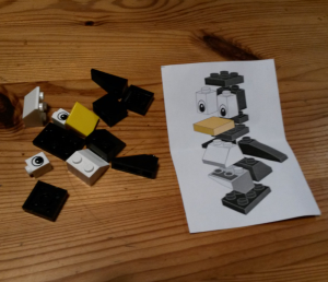 Bauteile für Lego-Pinguin