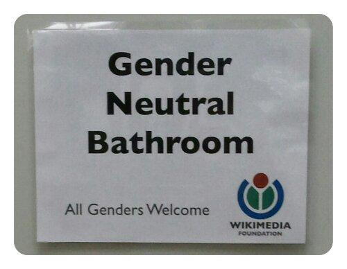 Genderneutrales Klo bei der Wikimedia Foundation